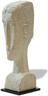Modigliani Female Head Expressionism Sculpture Figurine