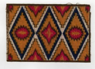 EARLY NATIVE AMERICAN Indian FELT Blanket TOBACCO Cigar Cigarettes