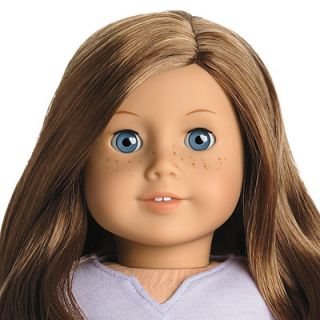 NEW American Girl 18 Doll #23 Brown Hair Blue Eye Freckles Pierced