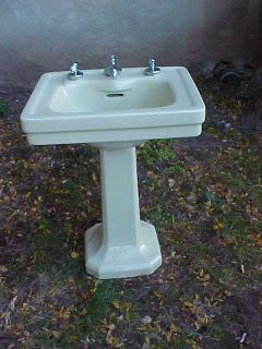 Antique Art Deco Pedestal Sink by American Standard