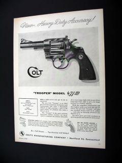 Colt Trooper Model 38 Special Revolver 1954 Print Ad