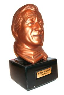 John Wayne American Whiskey Collector Decanter Old RARE