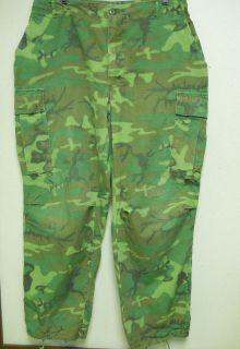 ERDL Camouflage Vietnam War BDU Pants Rip Stop Poplin x Large Reg 1969