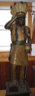 Amidon Cigar Store Indian Wood Hand Carved Tobacco Cape Cod