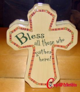 53160 Bless All Who Gather Here Cross Wall Plaque Kitchen Inspiration