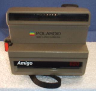 Polaroid Amigo 620 Instant Camera RARE Tan 600 Film