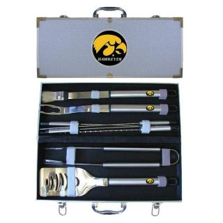 Iowa Hawkeyes 8 Piece BBQ Grill Utensil Set w Case