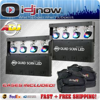 American DJ Quad Scan LED RGB DMX 3 Watt Gobo Lighting Effect AC 155 2