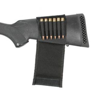 74SH03BK Black Buttstock 9mm Ammo Shot Gun Shell Holder w Flap