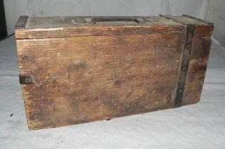 german wwii mg 08 wood ammo box