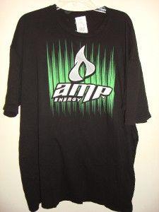 Amp Energy Drink Mens Black T Shirt Energy Drink Logo Pepsi Company