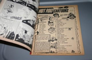 Hot Rod Cartoons July 1965 Magazine Hotrod Drag Racing Stock Car
