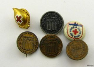 AMERICAN RED CROSS   Blood Donor Medical 6 PINS BUTTONS