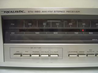 Realistic STA 460 AM/FM STEREO RECEIVER   Works