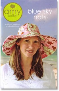 Amy Butler Blue Sky Hats Sun Hat & Reversible Skull Cap Sewing Pattern