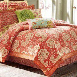 Amy Butler Queen Comforter Set Full Bloom Paisley Damask Sari Bloom