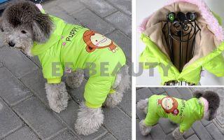 Puppy Love Smile Monkey Fleece Inside Dog Pet Clothes Apparel Jumpsuit