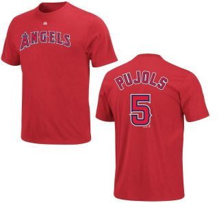 Albert Pujols Los Angeles Angels of Anaheim T Shirt Name Number Jersey