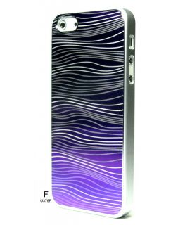 Chrome Blink Glitter Brushed Metal Bumper Wave Cover Case for iPhone 5