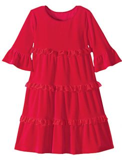 Hanna Andersson Love to Twirl Red Velour Dress Size 110 4 5 6 Holiday