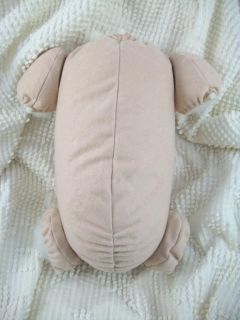20 21 Flesh Doe Suede Cloth Body 4 Reborn Baby Doll Kits 3 4 Arms