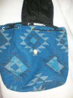 American Indian Blanket Blue Backpack Bookbag Nenis Sewing & Crafts