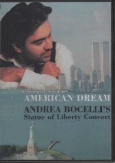 American Dream Andrea Bocellis Statue of Liberty Concert DVD Sarah
