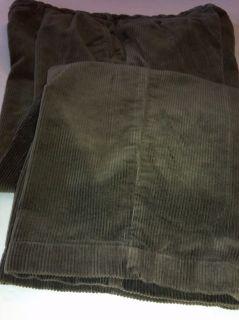 Polo Ralph Lauren Andrew Pants 36x30 Brown Corduroy Cords Trousers