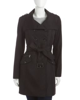 Andrew Marc Rainwear Trenchcoat Black