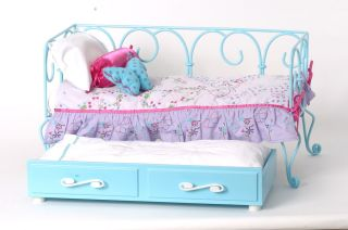 American Girl Doll Curlicue Daybed with Butterfly Bedding