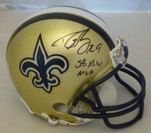 Drew Brees Autographed Signed New Orleans Saints Mini Helmet w SB