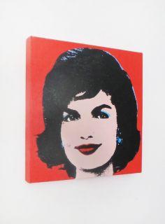 Louis Waldon Jackie Kennedy Screenprint on Canvas Andy Warhol Signed