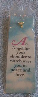 Religious Bookmark w Lapel Pin Footprints Cross Etc