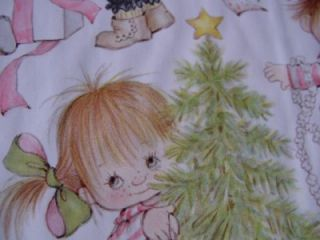 Vtg Hallmark Suzy Angel Christmas Wrapping Paper New 2