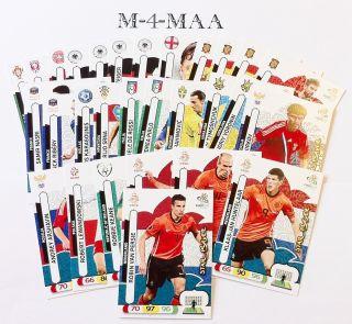Choose Your Star Player Card Panini UEFA Euro 2012 Adrenalyn XL Free