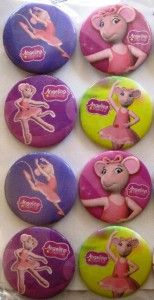 new angelina ballerina buttons 10 pins party favors