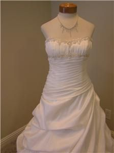 Alfred Angelo 2049 Wedding Dress Bridal Gown w Pick Up Skirt DW Size 8
