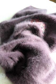 80s Vtg Ultra Fluffy Fuzzy Furry 80 Angora Art Deco Sweater