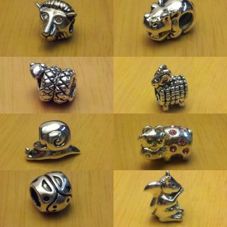 Silver Bead 4 European Charm Bracelet Animals Creatures