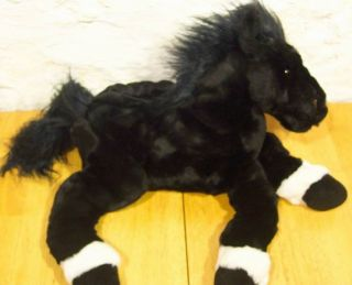 Animal Alley Black Stallion Horse Plush Stuffed Animal