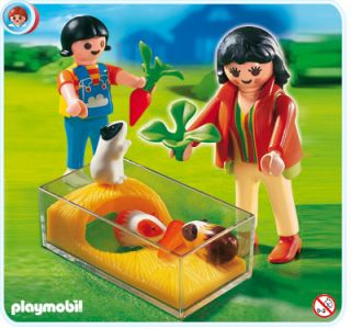 PLAYMOBIL === Animal Clinic 4348: Guinea Pig Pen ===NEW
