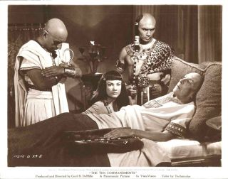 Anne Baxter Yul Brynner The Ten Commandments 1956