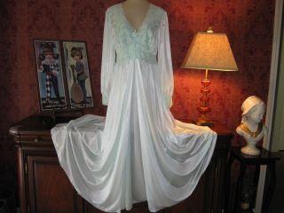 Vtg Shadowline Nightgown Robe Set SPANDEX Nylon Gown Peignoir Negligee