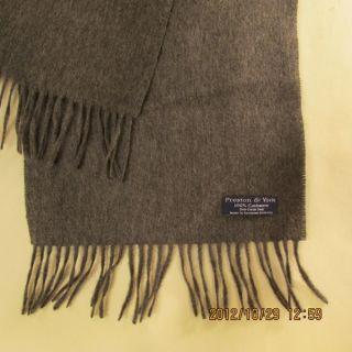 Cashmere Scarf Made in West Germany for Preston York Dark Gray