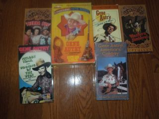 Autry 6 lot VHS movies specials films Smiley Burnette Ann Rutherford