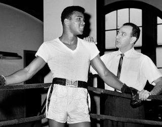RARE Muhammad Ali Angelo Dundee 1962 World Heavyweight Boxing Champion