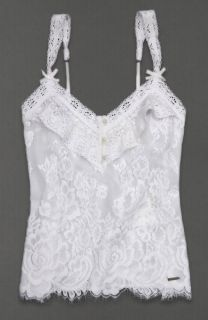 Abercrombie Fitch Womens Shirt Annabel Lace Cami Tank Top White L New