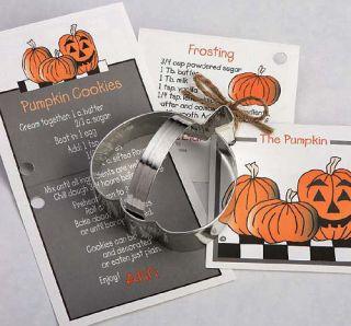 NEW Ann Clark Tin Pumpkin Cookie Cutter w/ Recipe Card Attatched Made