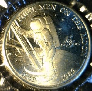 1989 $5 Marshall Islands 20th Ann 1st Man on The Moon Commemorative