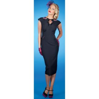 Stop Staring Anissa Dress New Black with Floral Detail Lovely Last